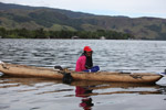 Woman in a canoe on Lake Sentani [papua_1051]