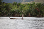 Man fishing on Lake Sentani
