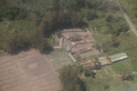 Aerial view of huts in the Baliem Valley