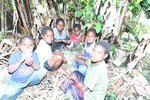 Papuan kids playing a game [papua_5091]