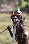 Dani men in ceremonial battle [papua_5470]