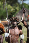 Dani men in war paint [papua_5588]