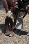 Dani man starting a fire with fiber and kindle [papua_5657]