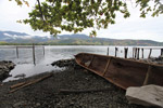 Canoe on a Lake Sentani beach
