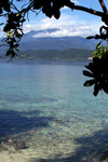 View of the Arfak mountains from across Manokwari bay