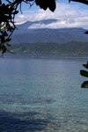 View of the Arfak Mountains across a part of Cenderawasih Bay near Manokwari