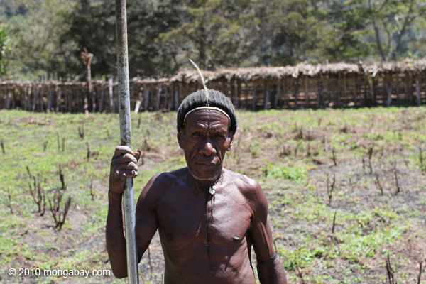 Dani man in Indonesian New Guinea. Photo by: Rhett A. Butler.