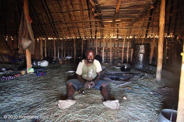 Dani farmer in Indonesian New Guinea.
