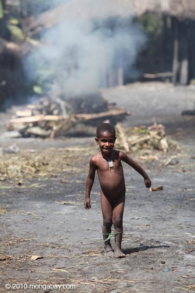 Dani child in a Papuan village [papua_5780]