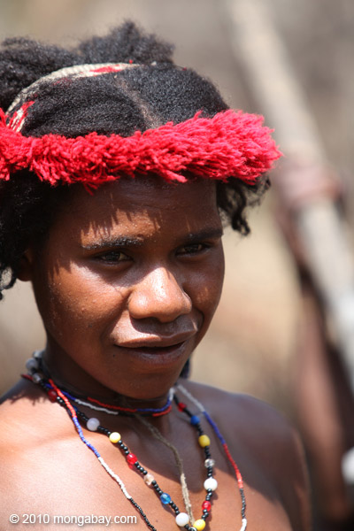 A Dani woman in Indonesian Papua. Photo by: Rhett A. Butler.