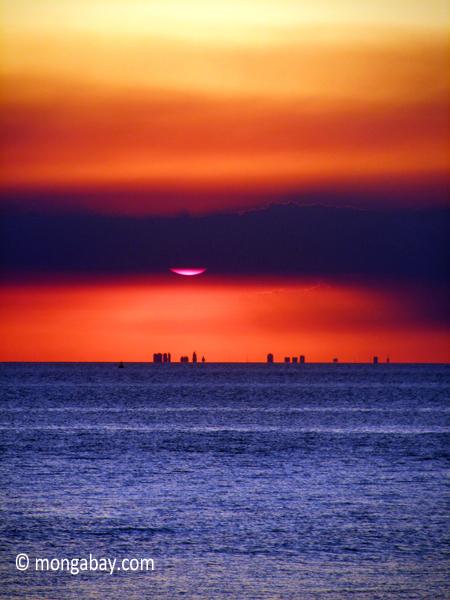 Ocean sunsetscenery,sunsets,argentina