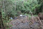 Truck accident site