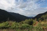 View of the Amazon rainforest through the Kosnipata Valley