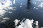 Rugged Amazon rainforest terrain