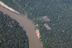 Small-holder clearing along the Tambopata river in the Peruvian Amazon