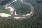 Aerial view of an Amazon rainforest river