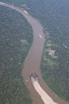 Airplane view of deforestation along a river in the Peruvian Amazon [peru_aerial_0439]
