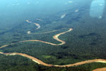 Meandering river in the southeastern Amazon