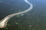 Aerial view of small-scale deforestation in the Amazon