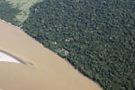 Airplane view of an ecolodge in the Amazon