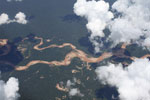 Gold mining damage in the Amazon rainforest