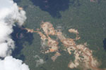 Gold mining damage in Peru's Amazon rainforest