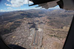 Cusco as seen from an airplane