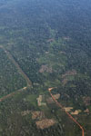 Airplane view of deforestation along a river in the Peruvian Amazon [peru_aerial_1068]