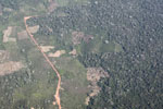Aerial view of deforestation in the Peruvian Amazon