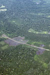 Deforestation along a road branching off the Transoceanic highway in Peru