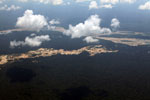 Amazon landscape scarred by gold mining