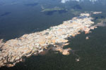 Massive gold mining area in the Peruvian Amazon