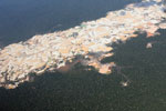 Massive gold mining area in the Amazon