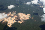 Massive gold mining area in Peru's Amazon region [peru_aerial_1536]