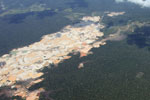Massive gold mining area in Peru's Amazon region