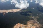 Massive gold mining area in the Peruvian Amazon