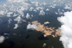 Open pit mines in the Amazon