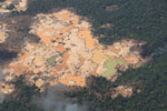 Open pit mines in the Amazon [peru_aerial_1575]