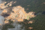 Open pit mines in the Amazon [peru_aerial_1580]