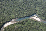 Milky turquoise river in the Amazon watershed