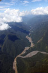 River valley on the Amazon side of the lower Andes