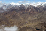 Glaciers in the Andes, as seen from an aircraft