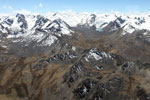 Glacial peaks in the Andes