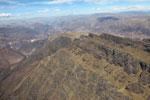 Steep mountain ridge near Cuzco [peru_aerial_1755]