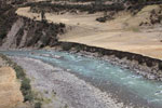Glacial river in the Andes