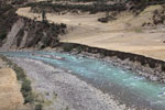 Turquoise river in the Andes