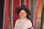 Weaver woman in the Andes