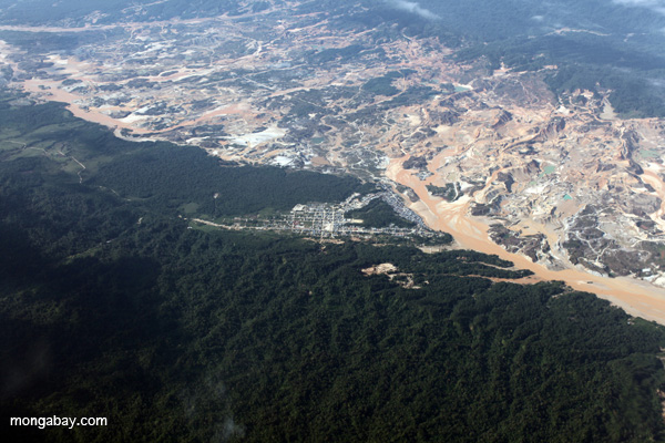 Gold mining operation in the Peruvian Amazon