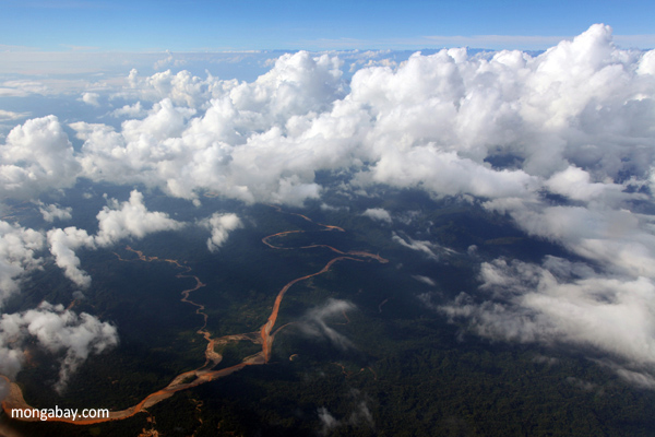 Clouds over the Amazon rainforest
