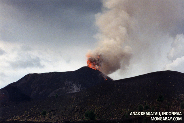 Anak Krakatau (son of Krakatoa) eruption